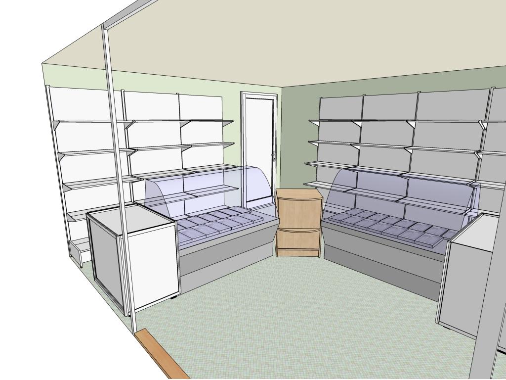 Схема магазина в доме
